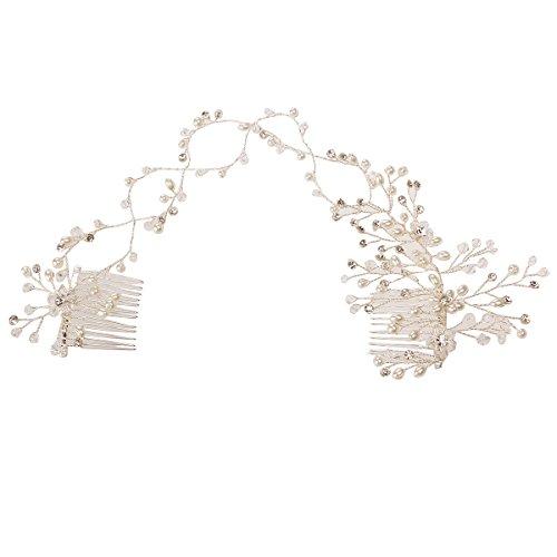 Banda de Oulii para el cabello, accesorio de boda para la novia,...