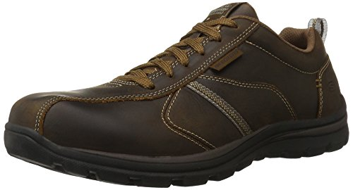 Skechers Men's Relaxed Fit Superior - Levoy Shoe,Dark Brown,11 M US