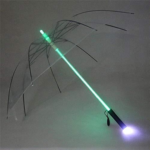 Asigo Star Wars Lightsaber Lluvia Paraguas Mujeres luz del relámpago de los Hombres de Refugio Noche de cumpleaños de Navidad,Transparente