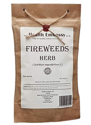 Health Embassy Schmalblättriges Weidenröschen Kraut (Epilobium Angustifolium L.) / Fireweeds Herb, 100g