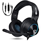 NUBWO Gaming Headset for Xbox One PS4 PC Gaming and Nintendo Switch,Stereo Surround Noise Cancelling...