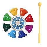 LilyJudy Bunte 8 Plattenspieler TTNe Schlagzeug Glocke Hand Glocke Musik Spielzeug Kinder Baby FrüHe Erziehung Musik Instrument für Kinder