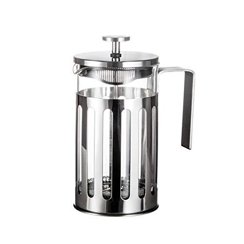 #N/V De acero inoxidable de prensa francesa cafetera cafetera percolador herramienta aislada café té olla con cestas de filtro