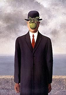 The Son of Man (Le Fils de l'Homme) by Rene Magritte - 27 1/2 x 19 3/4 inches - Fine Art Print / Poster