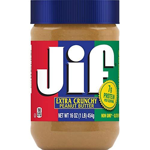 Jif Extra Crunchy Peanut Butter (Jif Extra Knusprige Erdnussbutter) 454g