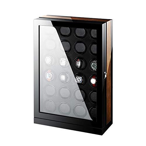 WERTYG Enrollador De Reloj Intelligen Lujo Pantalla De Reloj Automática para Control De 24 Relojes con Retroiluminación Azul y Pantalla Táctil LCD
