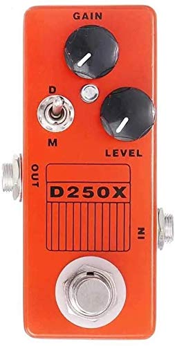 ZHANGYUEFEIFZ Guitar Effect Pedal Guitar Effects Pedal D250X 9V Analog Preamp Overdrive Mini Guitar Effects Pedal True Bypass Guitar Tuning Accessories (Color : Orange, Size : One Size)