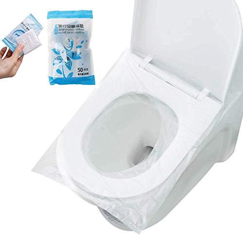 Copriwater Usa e Getta, FANDE 50 Pezzi Sedile WC Monouso Impermeabile Copriwater Monouso Copri WC per Bambini, Donne Incinta, Campeggio, 47,5 * 40 cm