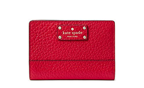 Kate Spade New York Bay Street Tellie Leather Bifold Wallet (Hot Chili Red)