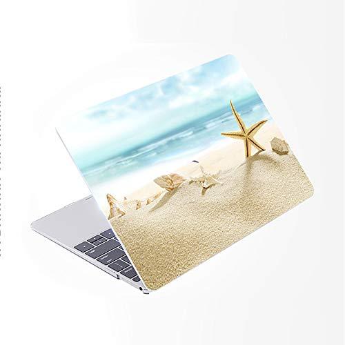 SDH Funda para MacBook Pro de 15 pulgadas 2019 2018 2017 2016 lanzamiento A1990 A1707, patrón de plástico y piel de teclado degradado compatible con Mac bookPro 15 Touch Bar & ID, Beach Scenery 4