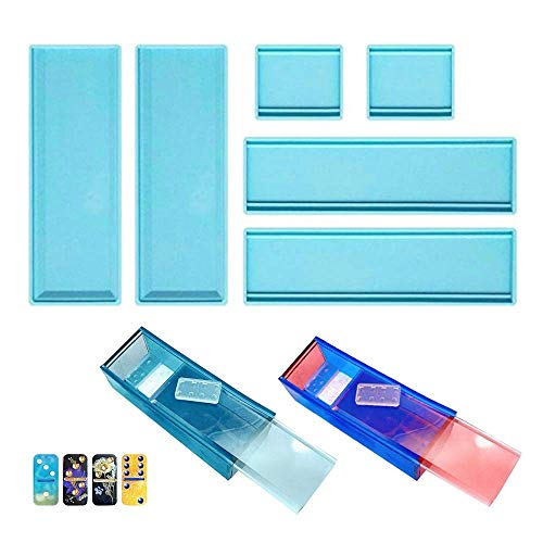 Jewelry Making Tools Storage Box Mould Silicone Resin Mold Dominoes Ornaments