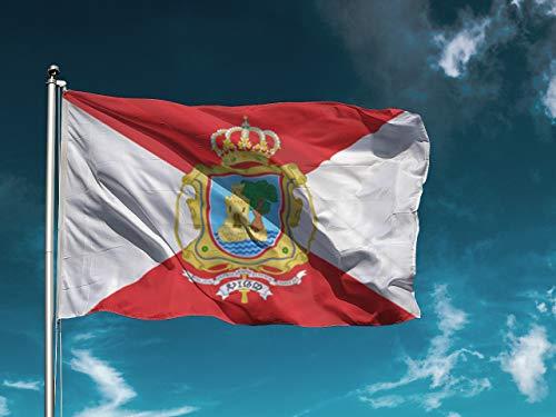 G | Bandera Vigo | Medidas 150cm x 85cm | Fácil colocación | Decoración Exteriores (1 Unidad)