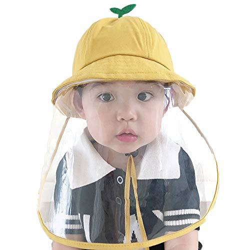MEGICOT Sombreros de protección para niños de 1 a 8 años con protector facial de seguridad desmontable, protección contra la niebla para niños y niñas ✅