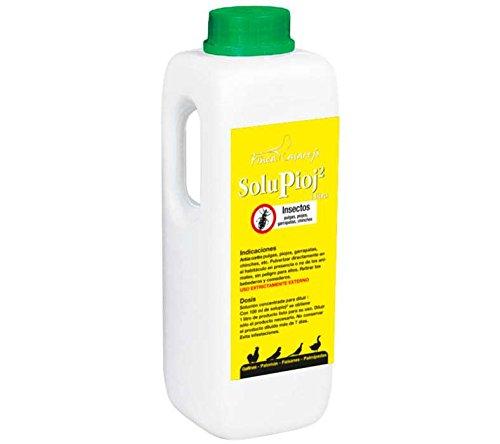 FINCA CASAREJO Producto Natural contra el ácaro Rojo - Elimina piojos de Las gallinas, pulgas, garrapatas y chinches del gallinero - SoluPioj 1 litro (Ref.SPJ1)