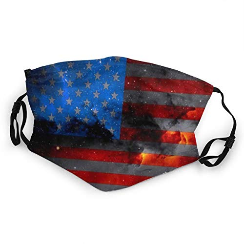 WLYDYS American Flag Halloween Kids Filter Dustproof Adjustable Protective Masks Face Mask Mouth Mask Mouth Cover Scarf Mask Camping/Outdoor Washable for Boys and Girls
