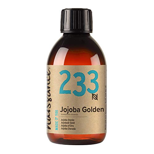 Naissance Cold Pressed Golden Jojoba Oil 250ml - Pure & Natural, Unrefined, Vegan, Hexane Free, No GMO - Ideal for Aromatherapy and as a Massage Base Oil