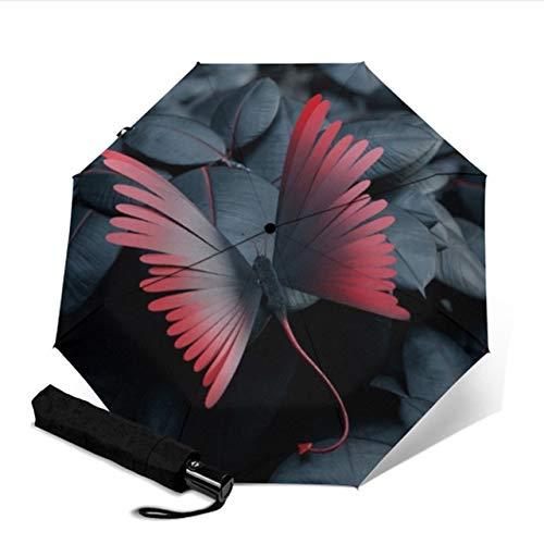Mdsfe Automatischer kompakter Schutz DREI klappbare männliche und weibliche Schmetterlingssonnensonne einzigartiger Sonnenschirm - YSA1307
