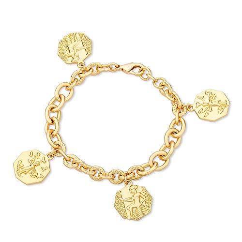 Viennois Gold Münzarmband für Damen