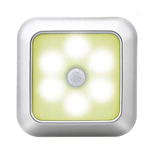 Batteriebetriebener 3 LED Quadratischer Bewegungssensor Nachtlichter Unter Schranklicht Schranklampe Für Treppenküche 8 cm * 8 cm /3 Stück kaltes Licht