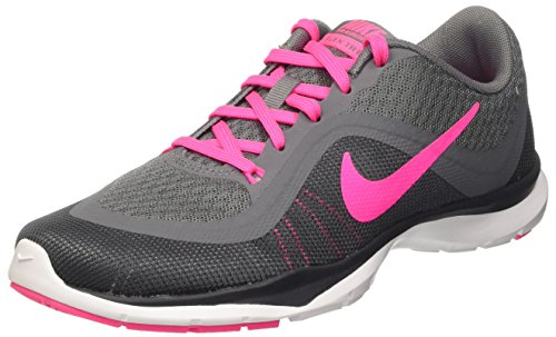 Nike Women's Flex Trainer 6 Training Shoes Grey/Pink Size 10 M US