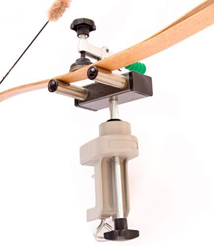 Virtual Zoco Tiro con Arco Soporte Giratorio – para Ajustar Arcos Compuestos - Poleas - Recurvos - Recurvados - Olímpicos - Longbow - Accesorio - Reparar - Cuerda - Flecha - Diana