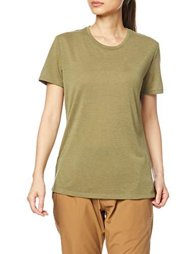 Salomon Comet Damen-T-Shirt Trail Running Wandern, Damen, Unterhemd, LC1485600, Mehrfarbig (Martini Olive/Heather), XL