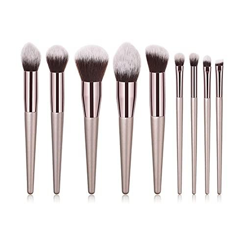 SHENG shengyuan 4 / 10pcs Champagne Maquillage Brosses Ensemble Ajuste for Fondation Cosmétique Poudre Blush Bouchure à paupières Kabuki Mélangeur Make Up Brush Beauty Tool