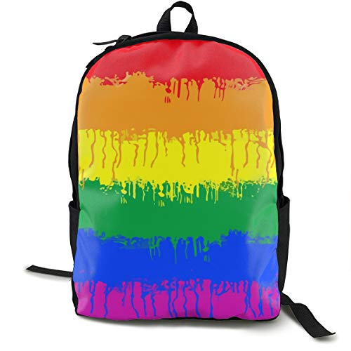 NiYoung Fashion Casual Daypack Large Capacity Anti-Theft Multipurpose Laptop Backpack Travel Business Backpack School College Students Bookbag, LGBT Gay Lesbian Flag