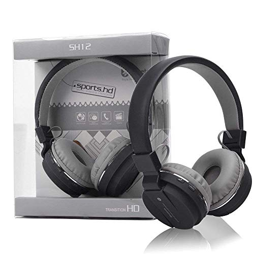 CHG SH12 Bluetooth Headphone Stretchable/Foldable Wireless Stereo Over Ear Headphone with Music & Calling Control FM and SD Card Slot for All Smartphones ZQ13