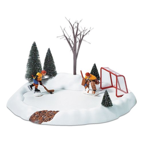 Department 56 Accessories for Villages Hockey Practice Animated Accessory Figurine