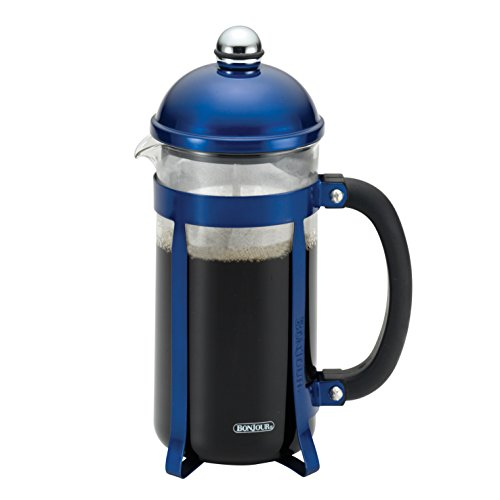 BonJour Coffee 8-Cup Maximus French Press, Blue