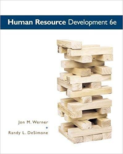 [0538480998] [9780538480994] Human Resource Development (MindTap Course List) 6th Edition - Hardcover -  Jon M. Werner