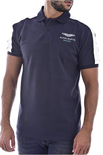 Hackett Men Aston Martin Racing Shoulder Panel Polo T-Shirt, S-XXXL Slim Fit (Navy, L)