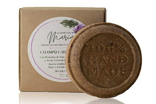 Champú sólido para cabello fino y sin volumen artesanal y ecológico - 100% natural y vegano