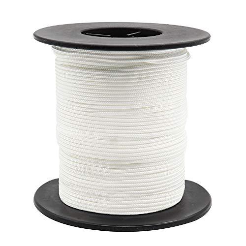 1,8 mm weiße geflochtene Lift Shade Cord Zugschnur für Aluminium Blind Shade, 55 Yard / Roll Geflochtene Elevator Shade Cord für Plissee Blind Hoeticulture Craft Jalousie Pulls, Gartenpflanze
