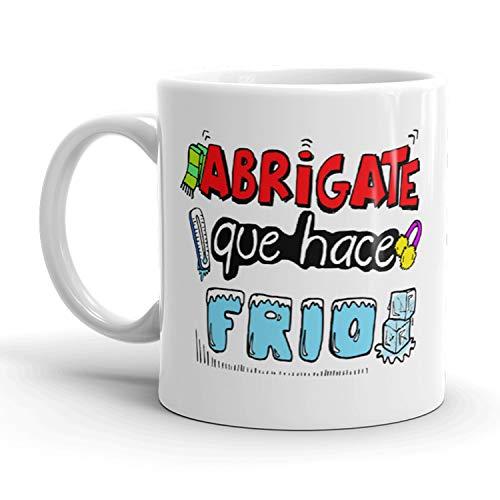 Kembilove Taza de café para Mamás – Taza de cerámica con mensaje divertido para madres Abrígate Que Hace frio – Ideal para regalar el día de la Madre – Tazas de primera calidad
