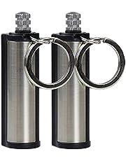 QiFei Slucifer-aansteker, survivalkit, eeuwige lucifers, outdoor lucifers, aansteker, sleutelhanger, survival lucifer van metaal, beste cadeau-ideeën