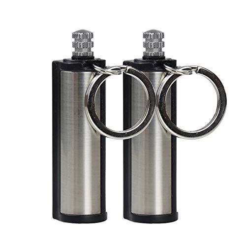 Yurgrt 2PCS Ewige Streichhölzer Keychain Permanent Metal Feuerzeug Gift Lighter Wasserdichter Tragbar Schlüsselanhänger Leichter Flaschenschlüssel für den Außenbereich, Camping, Outdoor, Survival Kit