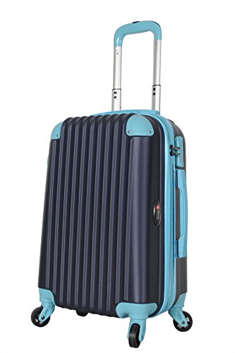 Brio Luggage Hardside Travel Spinner Carry-On #808 Navy (Navy / Blue)