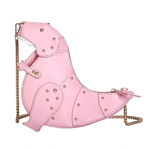 ZYCX123 Dinosaurio 1PC Mujeres Cross Body Bag 3D en Forma de Bolsa de Mensajero de Cuero de la PU del Bolso cosmético del almacenaje del Embrague del Bolso de Hombro Mini Mejor para Las Muchachas Re