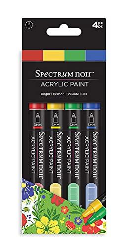 Spectrum Noir - Rotulador de pintura acrílica (4 unidades), color brillante