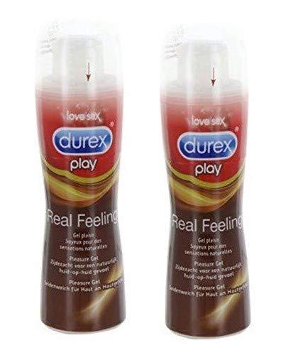 Durex Play - Real Feeling - Gleitgel - 2er Pack (2 x 50 ml)