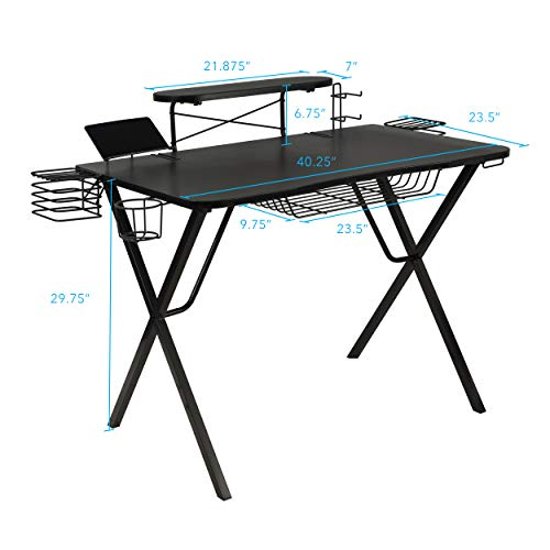 Atlantic Gaming Original Gaming-Desk Pro - Curved-Front, 10 Games, Controller, Headphone & Speaker...