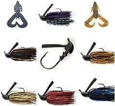No.7 Bass Jigs for Bass Fishing Pack Bulk Set Kit Flipping Jigs Weedless Jigs Swim Jigs Pitching Jigs Football Jigs (Universal Bass Jigs (6+2) of Pack(1/2oz, 5/0, 6 Colors))