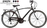 Bici Misura 28 Uomo City Bike Alluminio DEORE 27V ZEFIRO Art. ZFR27V (52 CM)