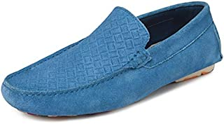 TONI ROSSI Men's Electric Blue Stanzen Leather Casual Loafers (650147)