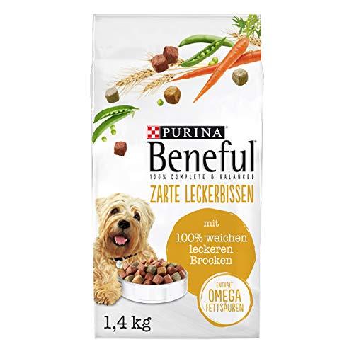 PURINA BENEFUL Zarte Leckerbissen Hundefutter trocken, mit Rind, 6er Pack (6 x 1,4kg)