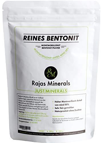 reines Bentonit-Pulver 1 Kg extra fein (Montmorillonit-Anteil bis 95% ) natürliche Detox Mineralerde in Premium Qualität (1000 g)