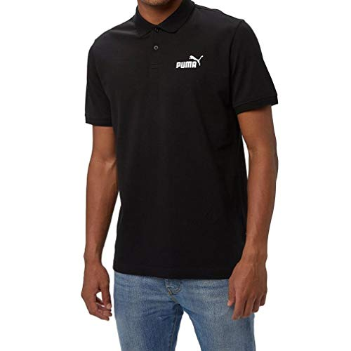 Puma Herren ESS Pique Polo Poloshirt, Schwarz (Cotton Black/01), L