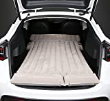 Topfit for Tesla Air Mattress Camping Back Seat Car Air Bed Travel Inflatable Vehicle SUV Soft Flocking Portable for Camping Travel(with Air Pump) Model S/X/3/Y Gen 2